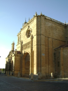 una parte de la iglesia
