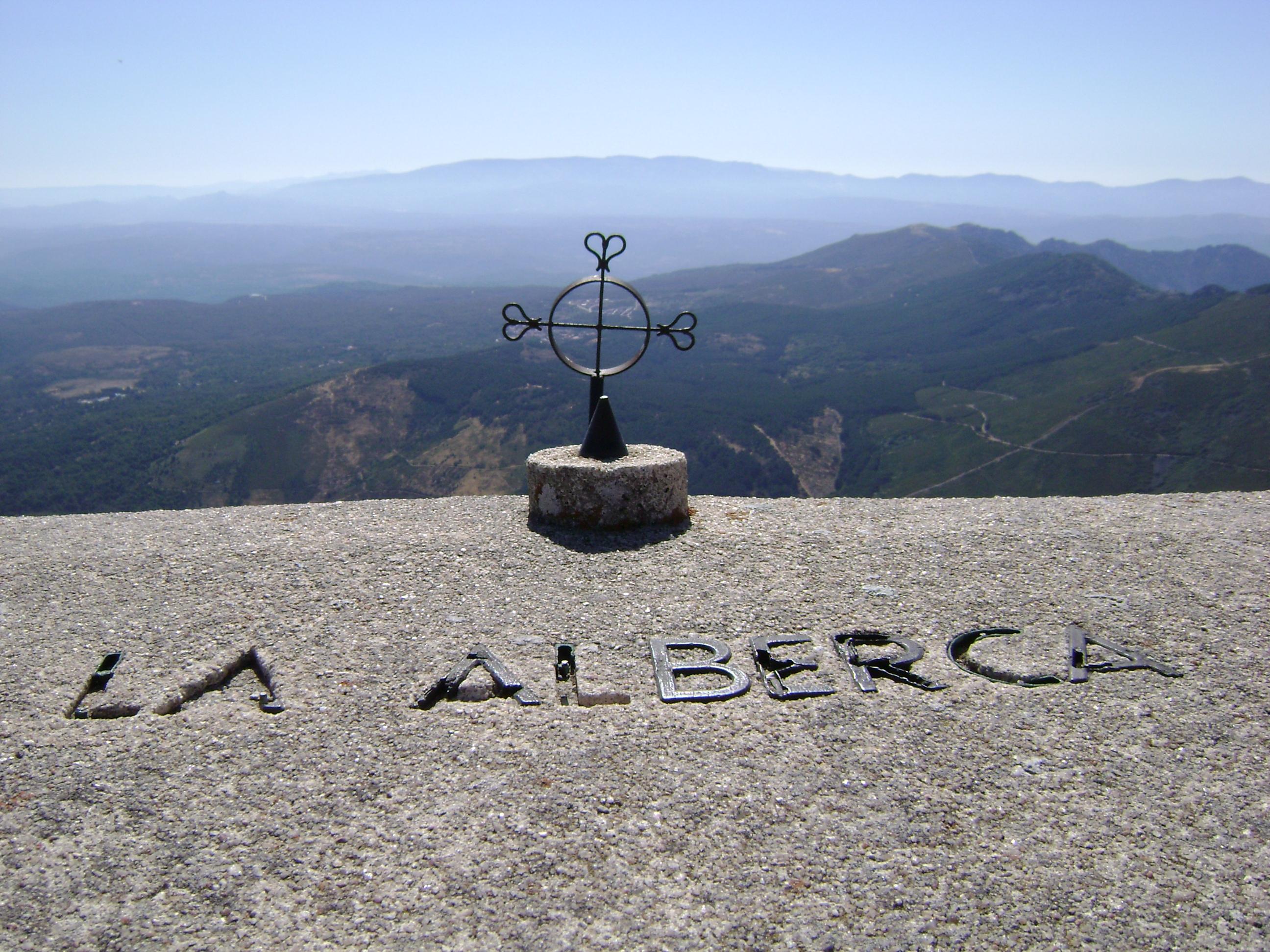 Foto de la Alberca desde la peña de Francia