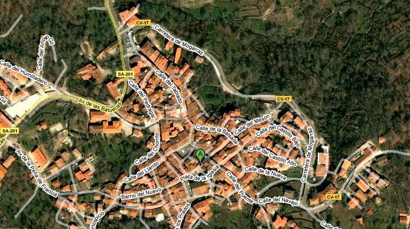 Mapa de la Alberca