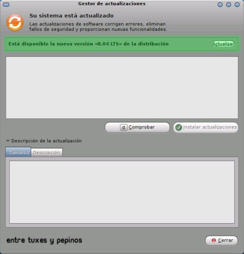 Ubuntu Gestro de Actualizaciones