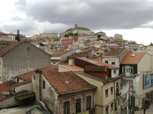 Vista de Coimbra desde el Hotel