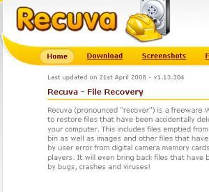 Recuva (recupera fotos, etc)