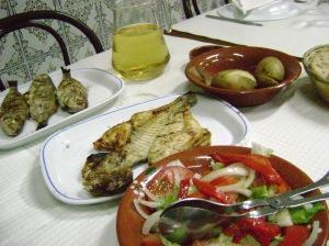 pescaito asao, como no, en Setubal, Portugal