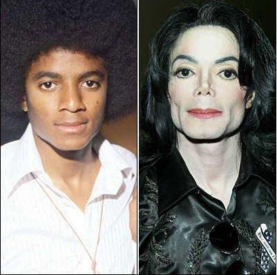 Michael Jackson cambio de apariencia