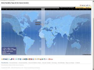 Mapa de los Usos Horarios