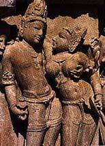 Estatua de Shiva y Shakti.