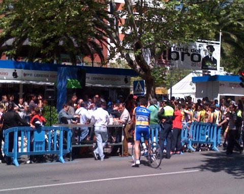 Ciclistas en la carresa de San Jorge Cáceres