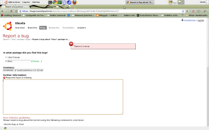 Repote Errores Ubuntu10.04